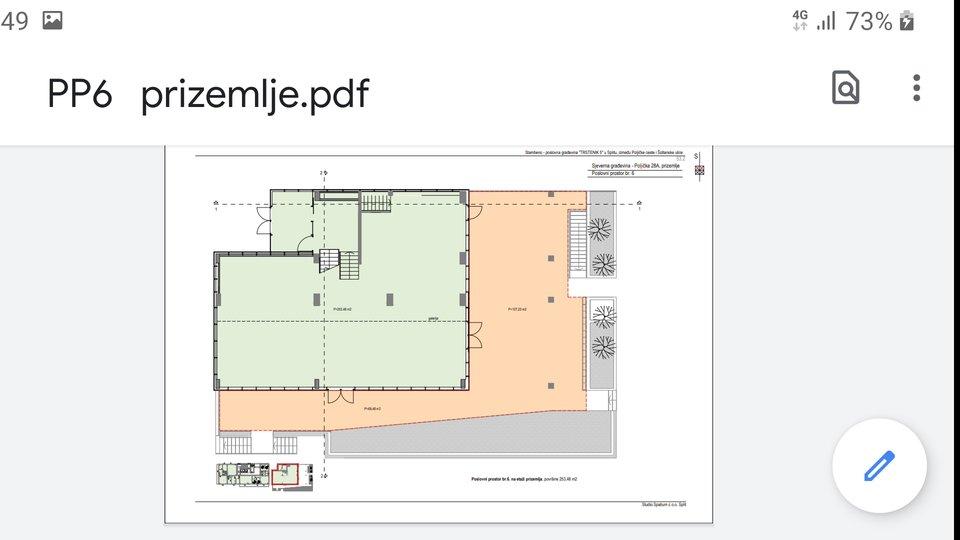 Geschäftsraum, 569 m2, Verkauf, Split