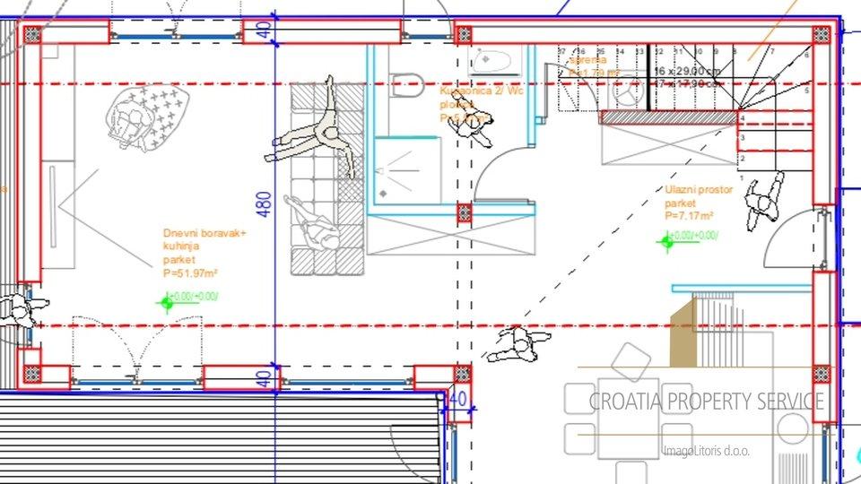 Project für schöne Villa mit herrlichem Blick, Omiš!