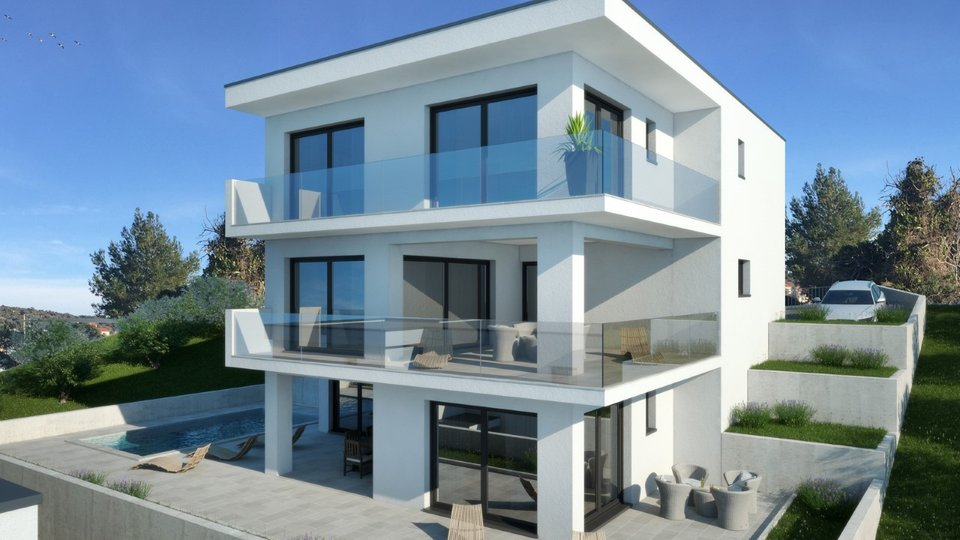 PROJECT FOR BUILDING TWO VILLAS IN A EXCELLENT LOCATION OF THE FIRST ROW TO THE SEA, RAŽANJ!