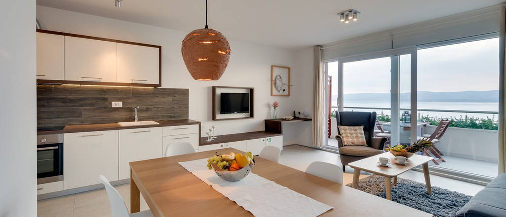 Omiš studio apartment with great seaview A5