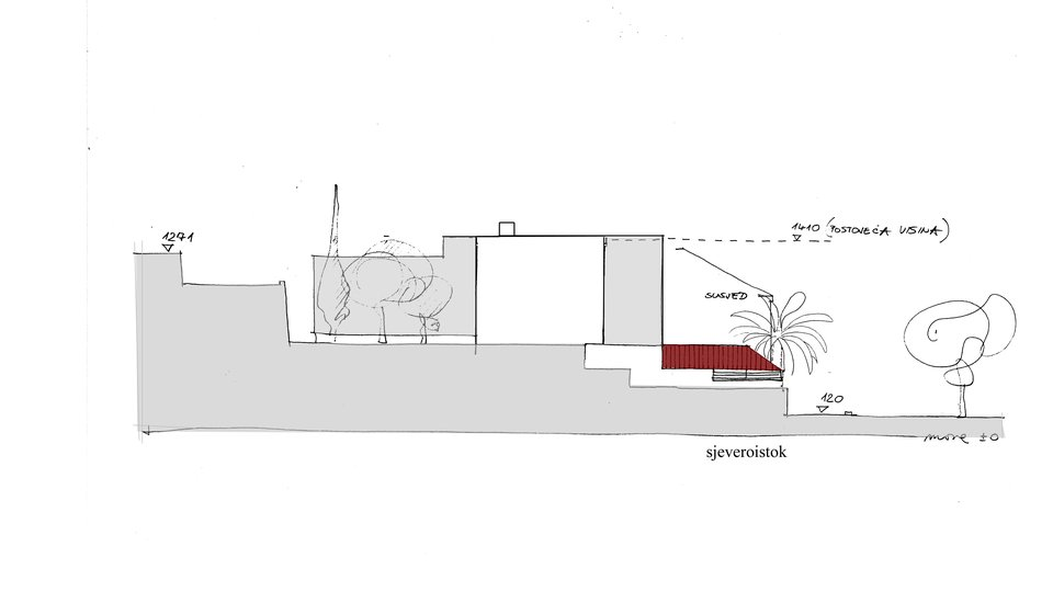 PROJECT FOR A MODERN VILLA ON THE ISLAND OF HVAR A SECOND ROW FROM THE SEA!
