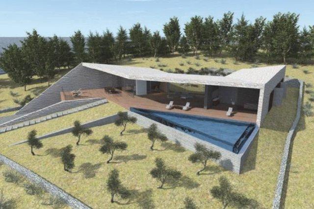 Veoma neobičan projekt za modernu vilu na otoku Hvaru!