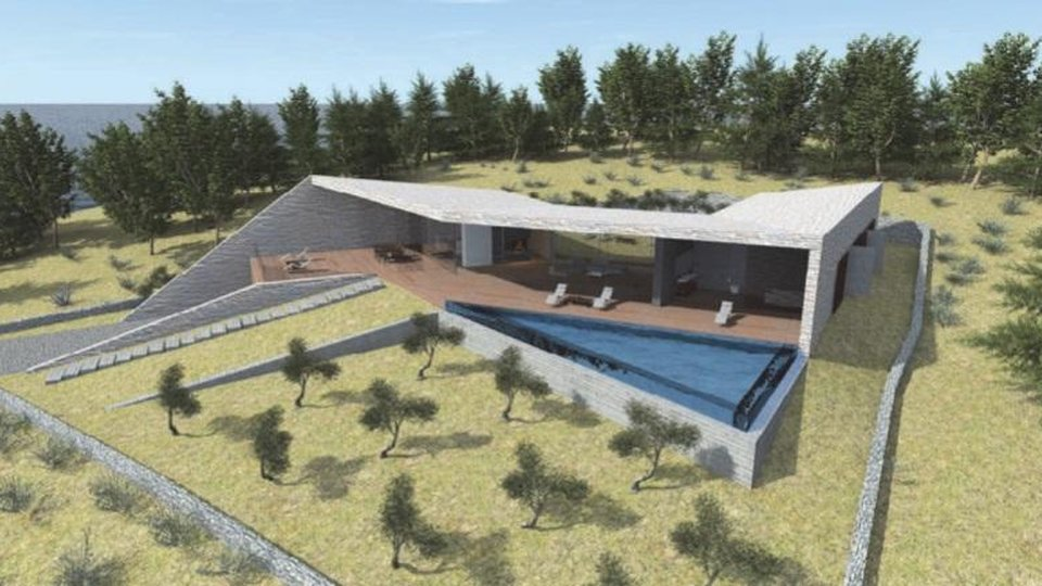 Most unusual offer of off-plan modern villa ever constructed in Croatia, Hvar island