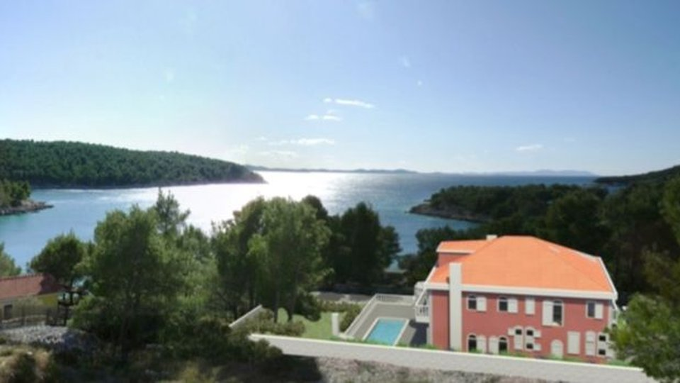 CONSTRUCTION LAND WITH BUILDING PERMISSION AND PROJECT FOR BUILDING TRADITIONAL VILLA WITH THREE APARTMENTS, BRAČ