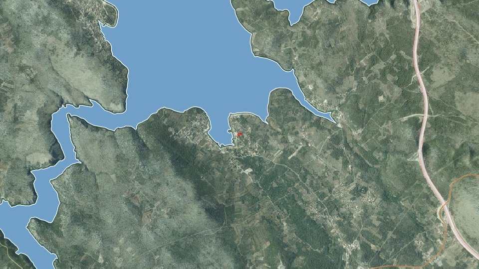 BUILDING LAND SURFACE 1 000 SQM, FIRST ROW TO THE SEA, ŠIBENIK AREA!