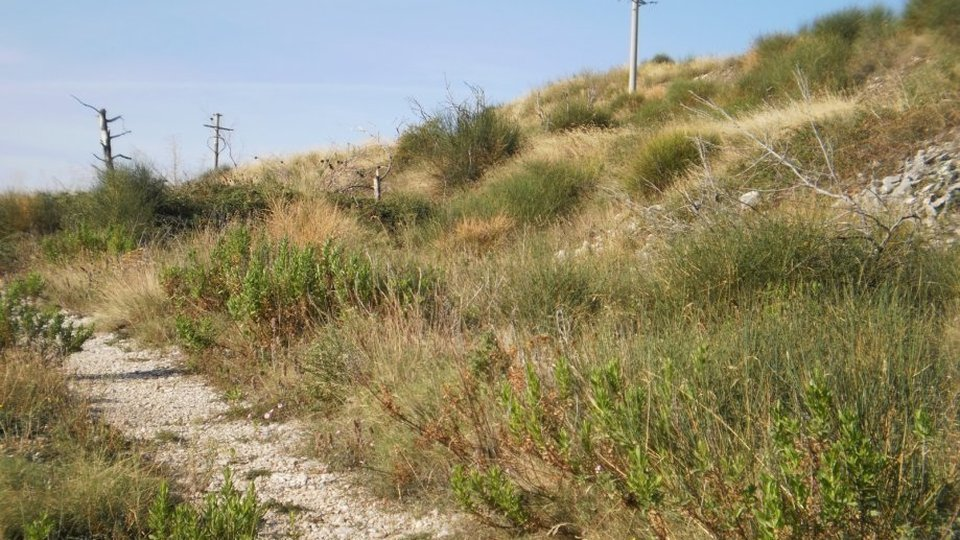 CONSTRUCTION LAND IN K ZONE, SURFACE 6000 SQM, TROGIR!