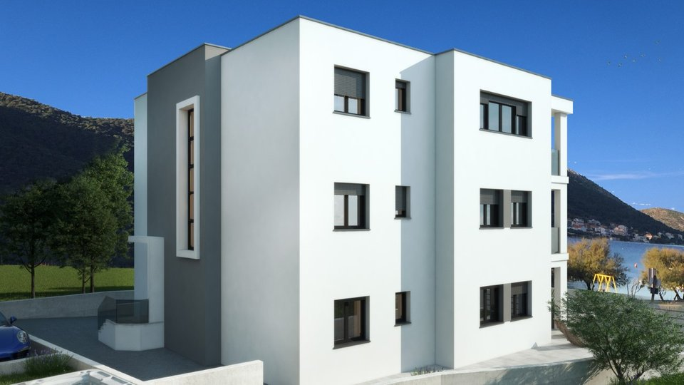 APARTMENTS IN NEW MODERN BUILDING, FIRST ROW TO THE SEA, GREBAŠTICA!