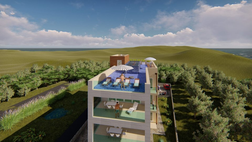 A RESIDENTIAL BUILDING WITH THREE LUXURIOUS APARTMENTS IN BUILDING UNDER CONSTRUCTION! FIRST ROW TO THE SEA IN SUKOŠAN!