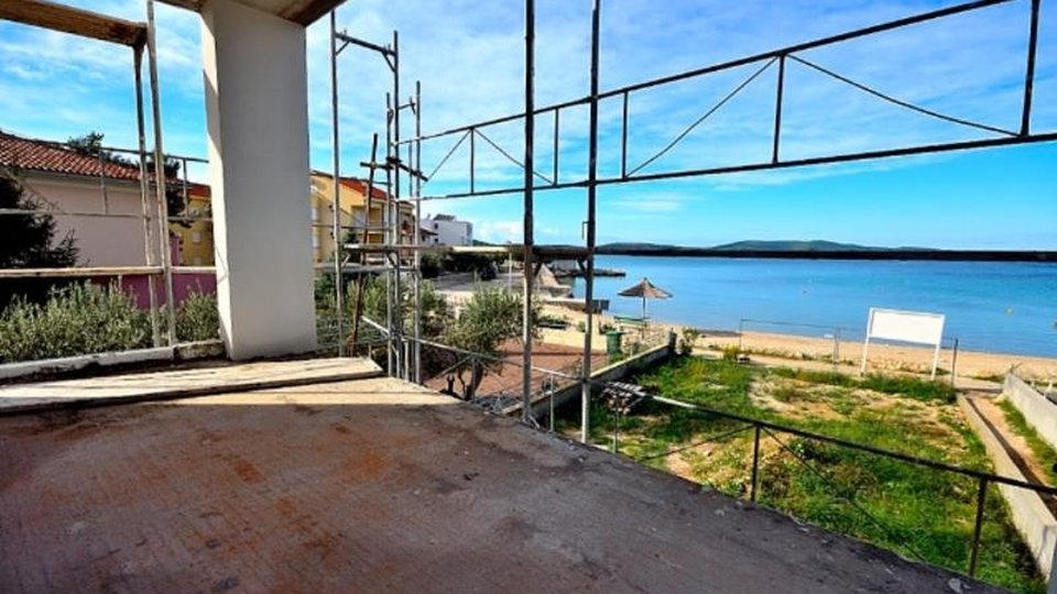 Beachfront new modern villa with swimming pool under construction, Sibenik area!