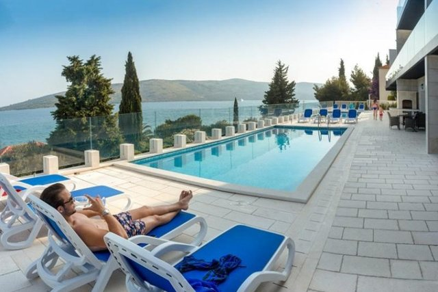 Frontline new modern apart-hotel for sale in Croatia in Trogir area!