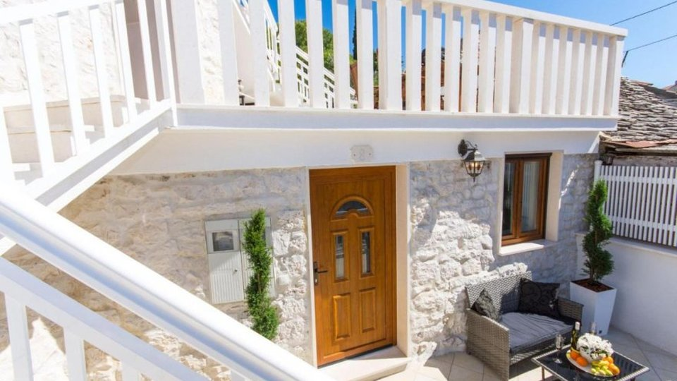 Beautiful renovated old stone house with great view and large outdoor space