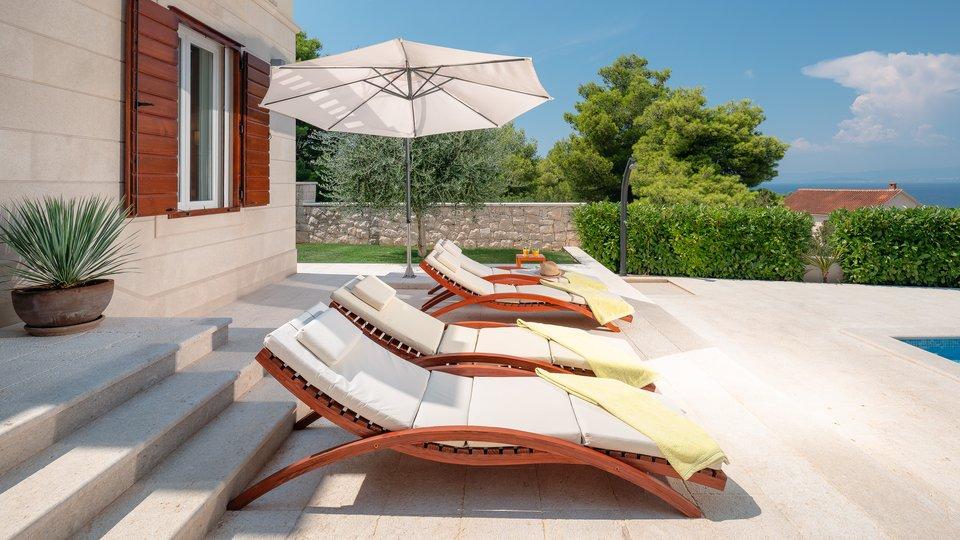 Brač- beautifull villa with great seaview, not far from sea